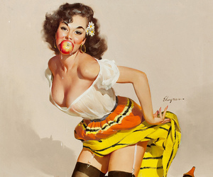 Pin Up, vintage, and girl image