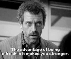 dr house, quote, and freak image