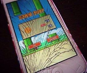 flappy bird, iphone, and apple image