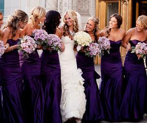 purple, wedding, and dress image