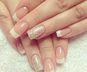 nails, nail art, and french manicure image
