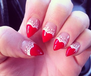 valentine and nice nails image