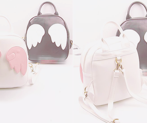 backpack, bag, and wings image