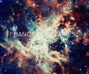 dance, galaxy, and space image