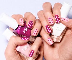 nails, pink, and dots image