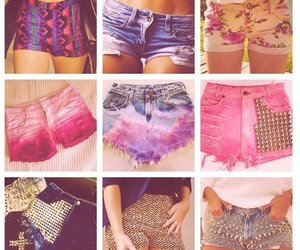 shorts, pink, and short image