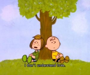 love, charlie brown, and snoopy image