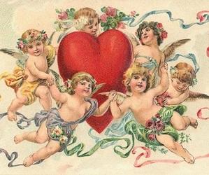 cherub and valentine image