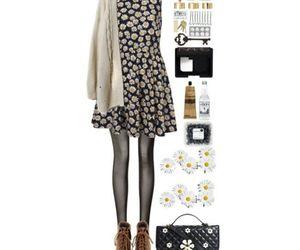 clothing, daisy, and fashion image