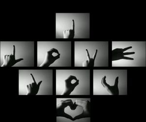 black background, hand, and pretty image