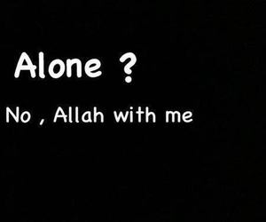 allah, islam, and alone image