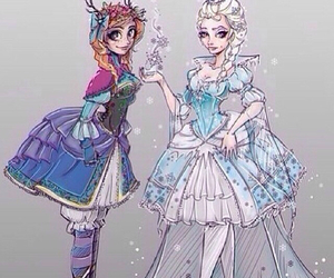 royalty and anna and elsa image