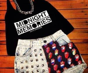 one direction, outfit, and midnight memories image