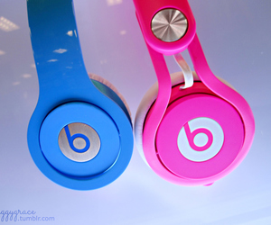 beats, blue, and pink image