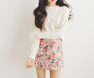 asian, floral, and kfashion image