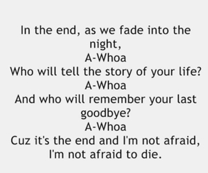 Lyrics, black veil brides, and in the end image