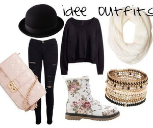boots, hat, and outfit image