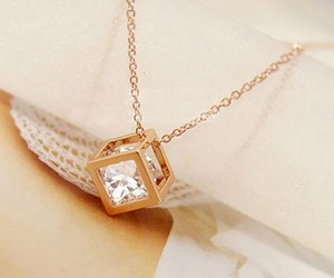 diamond, gold, and necklace image