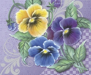 flowers, pansies, and yellow image