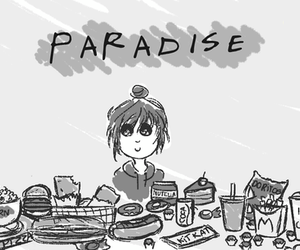 food, girl, and happy image
