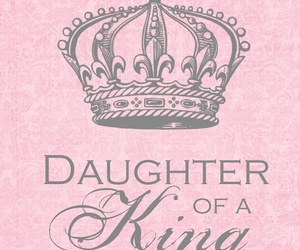 king, daughter, and pink image