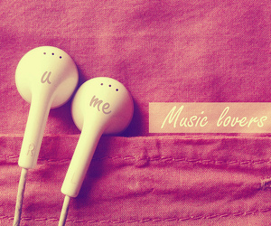music, pink, and me image