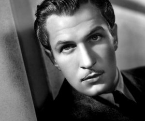 black and white and vincent price image