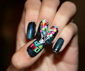 nails, balloons, and nail art image
