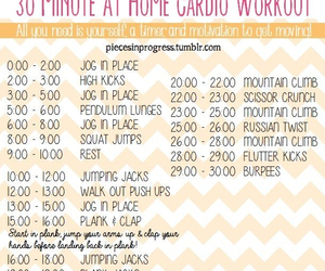 workout, cardio, and fitness image