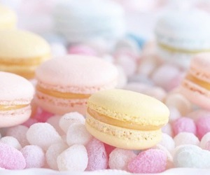 pastel, macaroons, and food image