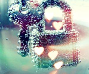 key, heart, and lock image