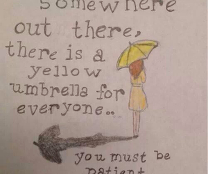quote and yellow umbrella image
