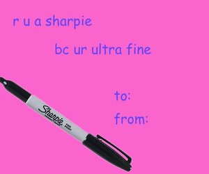 Sharpie, funny, and valentine image