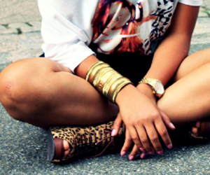 fashion, K, and leopard image