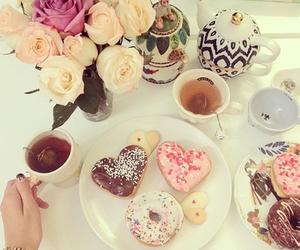 tea, food, and flowers image