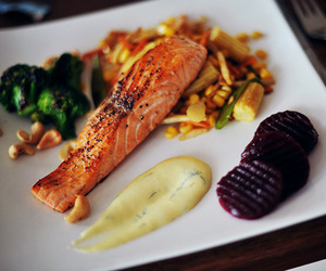 food and salmon image