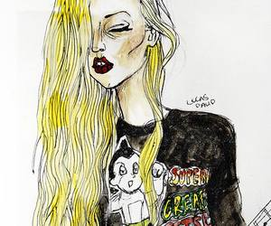 illustration, Taylor Momsen, and the pretty reckless image