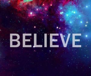 believe, galaxy, and blue image