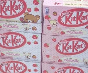 kitkat, rilakkuma, and chocolate image