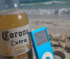 beach, lime, and corona image