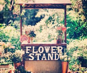 stand and flower image