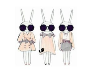rabbit sunglasses love image