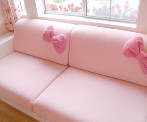 pink, bow, and hello kitty image