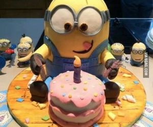 minions, cake, and sweet image