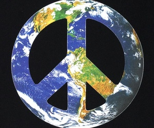 earth, no war, and peace image