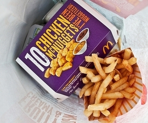 food, fries, and mc donalds image
