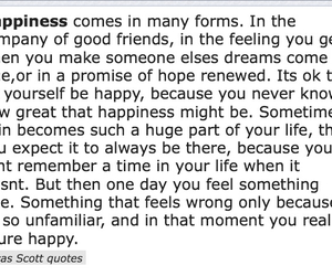 happiness, lucas scott, and one tree hill image