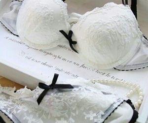 lingerie, white, and bra image
