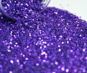 glitter, purple, and sparkle image
