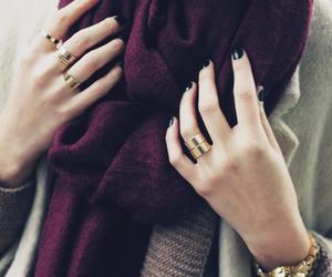 fashion, scarf, and black image